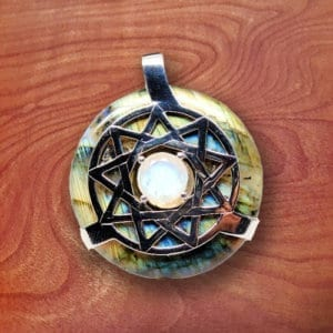 rainbow labradorite, crystal, amulet, jewelry