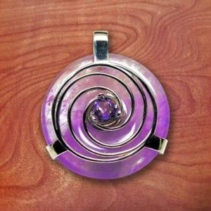 amethyst, energy, third eye, chakra, pendant, amulet