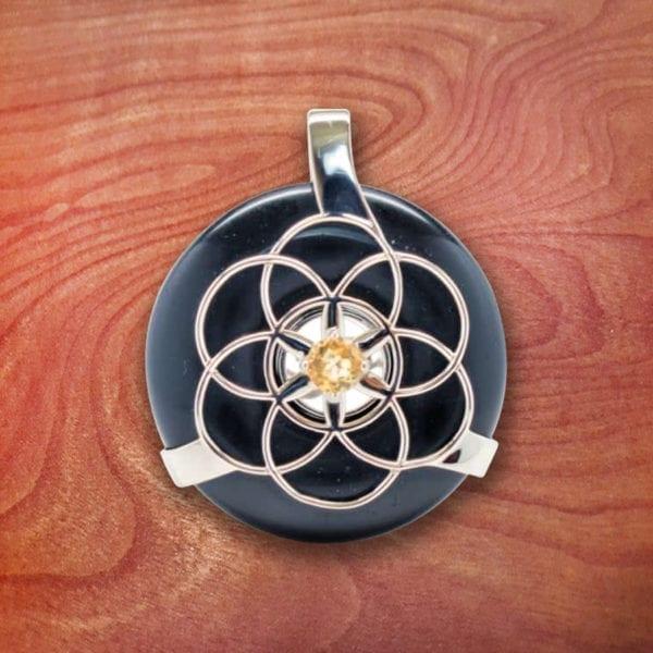 obsidian, crystal, healing, amulet