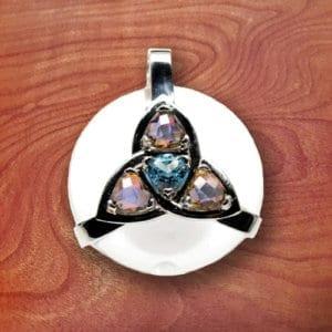 clear quartz, amulet