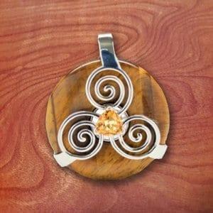 amulet, tiger eye, crystal