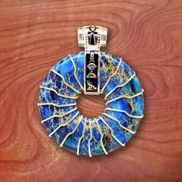 blue jasper, amulet